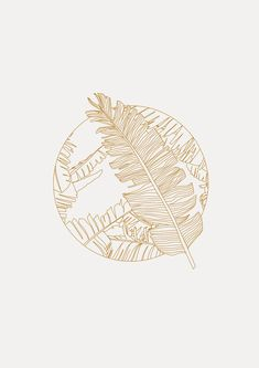 Tropical Leaves by Sara Gisabella Designs Line Illustration, Botanical Illustration, Digital Illustration, Floral Illustrations, Line Art Design, Logo Design, Tropical Art, Tropical Leaves, Line Artwork