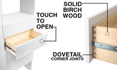 Modular Closets makes it simple and affordable for you to get the closet of your dreams. Our closet systems are made from quality wood and are easy to install. Modular Closets, Closet Drawers, Dovetail Drawers, Closet System, Fort Myers, Make It Simple, Cabinet, Storage, Wood