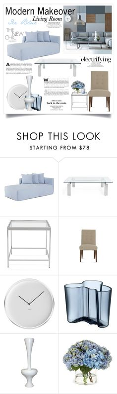 """""""Ice Blue Living Room"""" by boxthoughts ❤ liked on Polyvore featuring interior, interiors, interior design, home, home decor, interior decorating, ASOS, Ralph Lauren Home, Mitchell Gold + Bob Williams and Jonsson"""