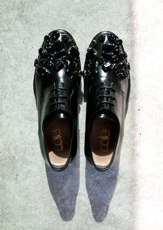 Coliac rhinestone embellished derby shoes www.freeshop.gr