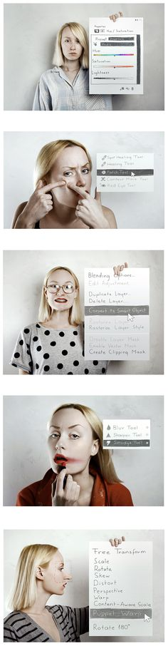 Photoshop in real life  made by Flora Borsi  by Behance