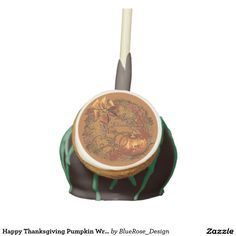 Shop Happy Thanksgiving Pumpkin Wreath Cake Pops created by BlueRose_Design. Halloween Cake Pops, Halloween Doll, Halloween Treats, Happy Halloween, Chocolate Liquor, Chocolate Covered Oreos, Red Velvet Cake Pops, Gel Ice Packs, Confectioners Glaze