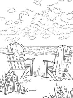 Beach coloring pages - bliss SEASHORE Coloring Book Your Passport to Calm By Jessica Mazurkiewicz Coloring Page 1 Welcome to Dover Publications Beach Coloring Pages, Coloring Pages To Print, Coloring Book Pages, Coloring Pages For Kids, Coloring Pages Nature, Mandala Coloring, Kids Coloring, Summer Coloring Sheets, Flower Coloring Sheets
