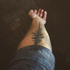 Pine Tree tattoo. Tattoo by Zee at Studio Zee, New Haven, CT.
