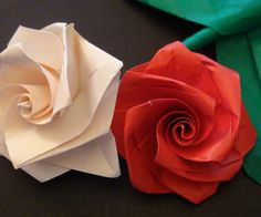 This video tutorial will show you how to make an easy origami rose, which looks beautiful when grouped together into a bouquet. The tutorial itself shows how to make one rose, but if you wish to turn it into a bouquet, simply add some stems and leaves, and make a few. Then group them together. For instructions on how to make the stems and leaves, look through my youtube channel. I will have it up shortly.  http://www.youtube.com/user/tommyclancygames?feature=mhee Enjoy!