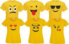 Gruppenkostüm Familienkostüm Paarkostüm für Emoji Fans Karneval Kostüm