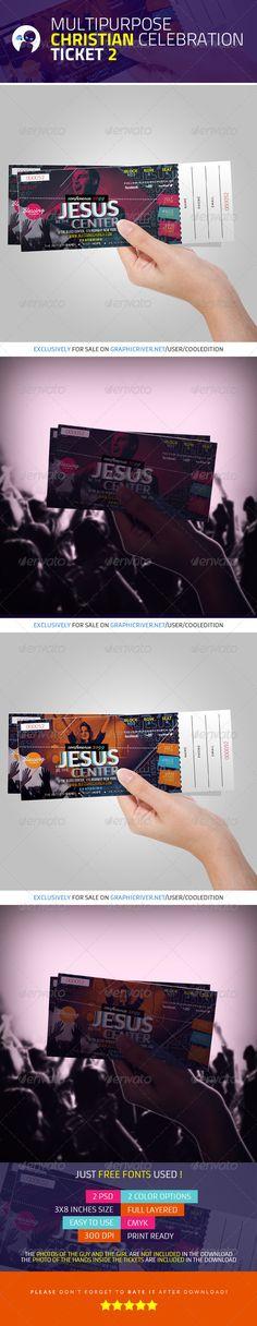 Gospel Fest Concert Ticket Template Concert ticket template - concert tickets template