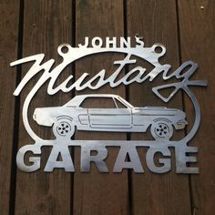 Personalized Custom Ford Mustang sign Metal Garage sign Personalized shop sign Ford art