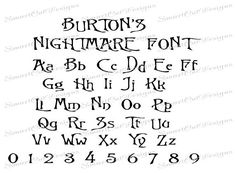 Nightmare Font SVG Christmas Nightmare Svg Letters Gothic Svg Font Svg Cricut Font Scan N Cut Letters Cuttable Svg Font - Together Since Shirts - Ideas of Together Since Shirts - SALE Burtons Nightmare Before Christmas Tattoo Lettering Fonts, Doodle Lettering, Lettering Design, Lettering Tutorial, Calligraphy Fonts, Cursive Alphabet, Hand Lettering Alphabet, Alphabet Art, Tim Burton Font