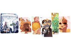 Antoni Gaudí é homenageado por seus 161 anos em doodle do Google Foto: Reprodução