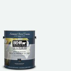 BEHR Premium Plus Ultra 1-gal. #BL-W9 Bakery Box Satin Enamel Interior Paint