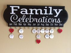 For Grandma? I'm thinking this design. Family Celebrations Birthday and Anniversary by DesignedByMelissaM, $50.00