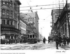 Throwback Thursday! Here's an amazing shot circa 1915 at Yonge and Queen. Photo: William James