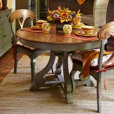 Marchella Dining Table - Sage & Brown This would be perfect for our kitchen