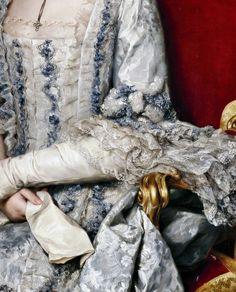 María Luisa de Borbón, gran duquesa de Toscana, Detail. by Anton Raphael Mengs (1728 – 1779)  Dated: 1770