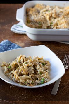 Homemade Tuna Noodle Casserole without Canned Soup - Pinch My Salt  #summerfest #peas