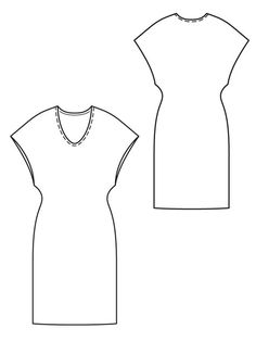 Burda PDF dress pattern no longer free, but great basic to have.  $5.99 and you must add seam allowances.