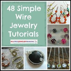 48 Simple Wire Jewelry http://www.allfreejewelrymaking.com/Wire-Wire-work/13-Simple-Wire-Jewelry-Making-Instructions-for-Beginners #wirejewelry