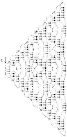 Gehaakte DROPS omslagdoek met kantpatroon van Alpaca. Gratis patronen van DROPS Design.