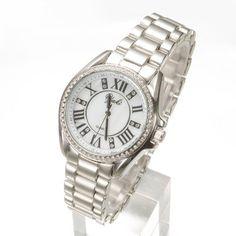 YAKI Elegante Uhren Damen Armbanduhr Damenuhren Analog Quarz Fashion Uhr mit Strass 83302-W
