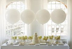 White dessert buffet by Amy Atlas perfect for a wedding