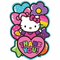 Show your appreciation with our Rainbow Hello Kitty Thank You Notes! Bright Hello Kitty thank you notes allow you to personalize your thank you notes in style. Hello Kitty Fotos, Hello Kitty Imagenes, Hello Kitty Party Supplies, Kids Party Supplies, Sanrio, Hello Kitty Pictures, Kitty Images, Hello Kitty Birthday, Hello Kitty Wallpaper
