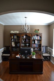 Dining Room Turned Home Office Details