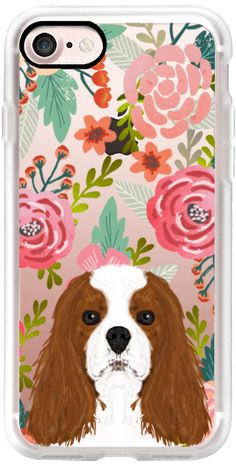 Casetify iPhone 7 Classic Grip Case - Cavalier king Charles Spaniel dog breed transparent cell phone case pet friendly dog person gifts spaniels by Pet Friendly #Casetify