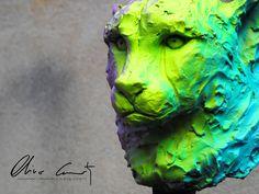 Buste de Guépar by Olivier Courty.  #art #sculpture #streetart #popart #News #Amazing #artist #streetartist #french #followme #Fallowme #Like #follow #Me #Cute #Love #Me