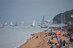 Cowes beach and green Isle of Wight #isleofwight #iw #iow #beach