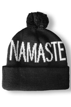 543b8a5997664 Spiritual Gangster Namaste Pom Pom Beanie    Gifts for the Yogi