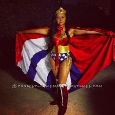 Wonderful Wonder Woman Costume for a Woman... Coolest Halloween Costume Contest