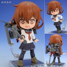 AmiAmi [Character & Hobby Shop] | Cu-poche - Kantai Collection -Kan Colle- Ikazuchi Posable Figure(Pre-order)