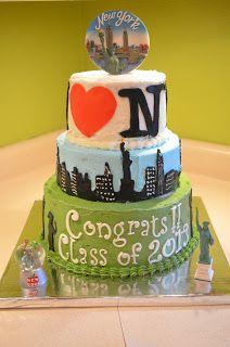 New York City Cake For Graduation Travel Birthdaycake