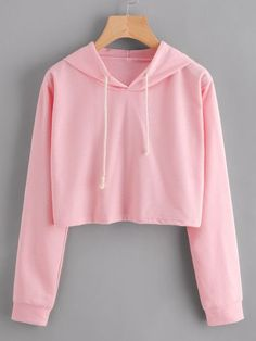 Embroidered Rose Patch Raw Hem HoodieFor Women-romwe