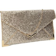 Fallabella Glitter Sparkle Envelope Womens Party Prom Wedding Clutch... ($19) ❤ liked on Polyvore featuring bags, handbags, clutches, prom handbags, gold handbag, brown handbags, prom purse and sparkly purses