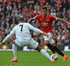 Versatile defender Marcos Rojo made his Manchester United debut as part of a new-look back...