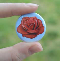 button featuring art by Salvador Dali Softball Goodie Bags, Salvador Dali, Art History, Button, Trending Outfits, Rose, Unique Jewelry, Handmade Gifts, Vintage