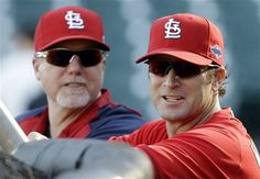 Matheny/McGwire Pre Game - Game 2 - NLCS Giants/Cardinals Baseball.
