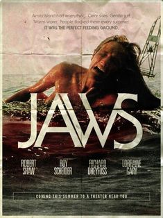 JAWS Movie Poster Tribute: Part 3 of As a fan of the film for fun, I re-imagined a retro fan art poster for it, in this instance focusing on the classic opening shark attack on the young woman taking a midnight dip. Best Horror Movies, Horror Films, Scary Movies, Good Movies, Horror Movie Posters, Movie Poster Art, Film Posters, Cinema Posters, Pet Sematary