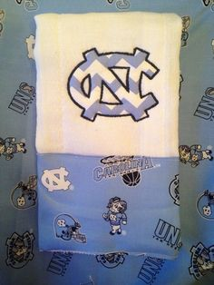 UNC Tarheels burp cloth applique