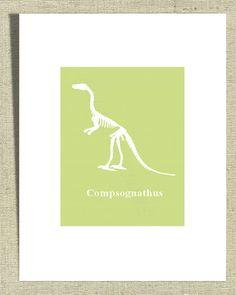 Boys Room Wall Decor Monster Dinosaur Compsagnathus by Fliss01, £11.00
