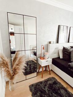 Ikea Mirror Hack, Diy Mirror, Industrial Mirrors, Mirror Inspiration, Living Room Mirrors, Mirror In Bedroom, New Room, Bedroom Decor, Home Decor