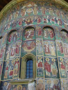 Monastery from Bucovina, Romania Visit Romania, Carpathian Mountains, Religious Architecture, Iron Work, Future Travel, Albania, Eastern Europe, Lebanon, Plaster