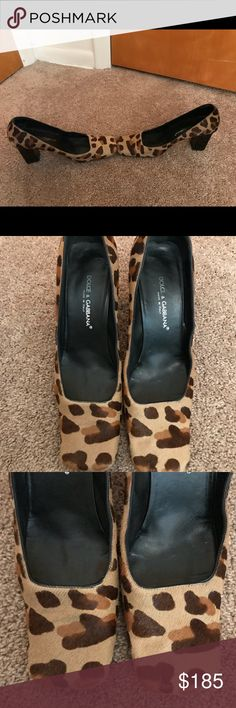 """Dolce & Gabanna Leopard Heels Size 39/Size 9 Adorable shoes from Dolce & Cabana! Gorgeous animal print with chunky heel! Gently used with some wear on bottoms. Very comfy heel! So stinking cute! 💕💕💕  3"""" heel height Dolce & Gabbana Shoes Heels"""