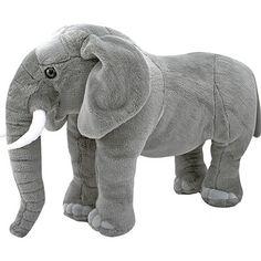 Melissa and Doug Giant Stuffed Elephant Elephant Nursery, Safari Nursery, Circus Nursery, Giant Stuffed Animals, Elephant Stuffed Animal, Stuffed Toys, Giant Animals, Elephant Peluche, Troy