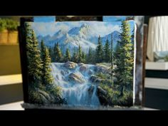 Abstract Landscape Painting, Mural Painting, Oil Painting On Canvas, Painting Frames, Landscape Paintings, Hall Painting, Nature Paintings, Canvas Art, Mountain Mural