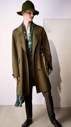 Inspired by RHUBARB STALK from our Kitchen Garden range Burberry Prorsum, Mans World, Ss 15, Spring Summer 2015, Menswear, Mens Fashion, Soldiers, Coat, Range