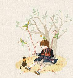 """초록담쟁이 (Green Ivy), """"로뎀나무 아래에서"""" (""""Under the Rood Tree"""")"""