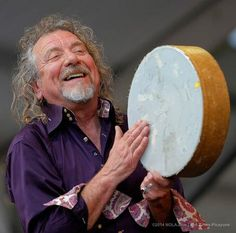 Robert Plant performing tonight at the New Orleans Jazz Festival, April 26, 2014.